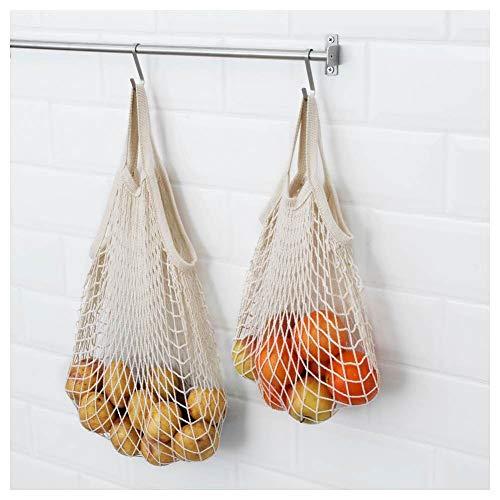IKEA KUNGSFORS Einkaufsnetze aus 100% Baumwolle; 2 Stück