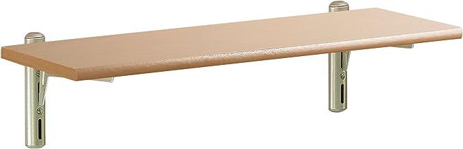 Element System 11315-00000 wandset Pino, 590 x 185 x 16 mm, Plankplaat Beuken, Wit Aluminium