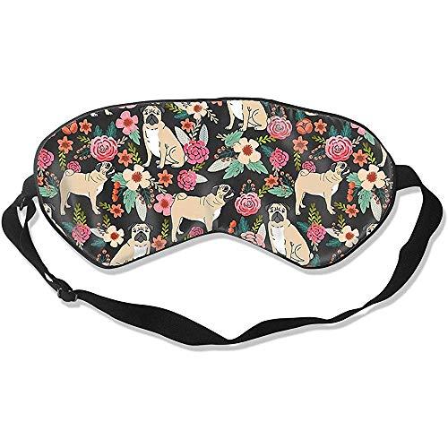 Blindfold, Mops Flower Funny Printing oogafdekking voor slaeping naps yoga