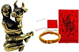 amulet 1 Pcs Beautiful Mini Figurine Brass Yantra Cow face inn Lovers Strong Love Sex Appeal Attraction Nice Gift