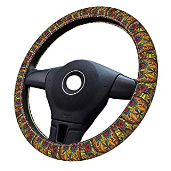 Tattoo Art Skull 3D pattern steering wheel cover car accessories female girl gift universal type suitable for car decoration