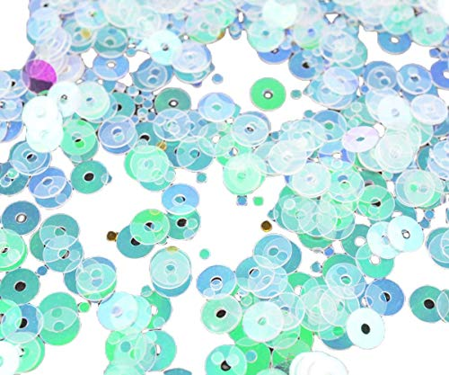 20g Crystal Clear AB Spotted Round Flat Sequins Confetti Paillettes Sew On Brooch Embroidery 4mm Hole 1mm