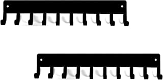 The Metal Peddler [Pack of 2] Simple Plain 14.5 inch Medal Holder Rack & Ribbon Display with 10 Hooks