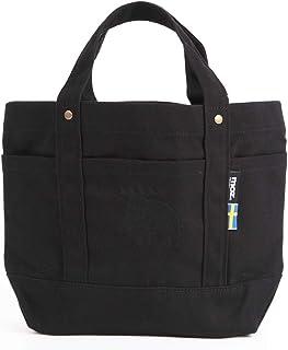moz モズ トートバッグ < 帆布/ポケット付き> Mサイズ 約34x21cm ブラック PL-BG07