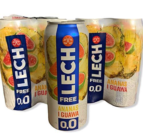 8 Dosen a 500ml vom polnischem LECH Bier Ananas und Guave alkohlfrei Beer