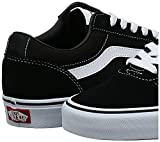 Vans Ward, Sneakers Homme, Noir ((Suede/Canvas) Black/White C4r), 43 EU