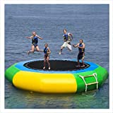 Homefami Inflatable Water Trampoline Bouncer Water Splash Padded Swim Platform for Water...