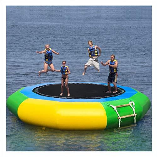 Homefami Inflatable Water Trampoline Bouncer Water Splash Padded Swim Platform for Water Sports...