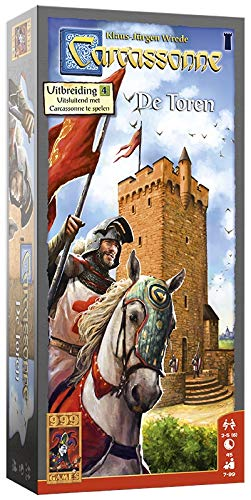 999 Games 999-Car12N Carcassonne: De Toren Bordspel Bordspel, Multikleur