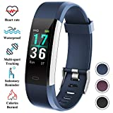 ITSHINY Montre Connectée, Montre Fitness Tracker Etanche IP68 Bracelet Connectée Montre de Sport Smartwatch GPS Unisexe -Blue