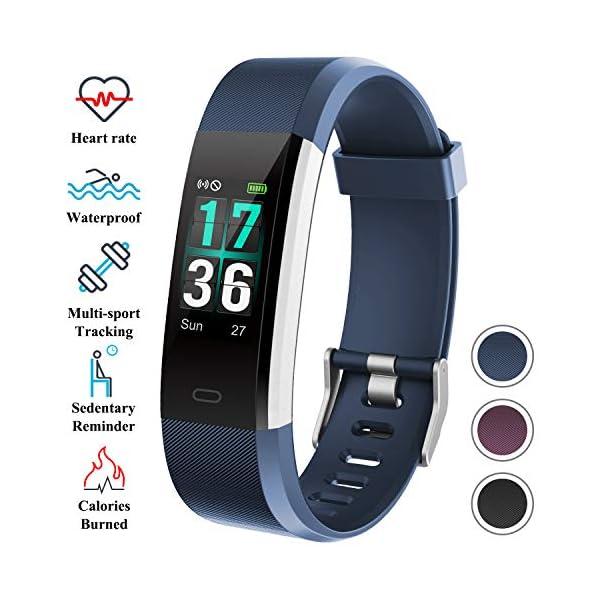 ITSHINY Pulsera Actividad Hombre Mujer, Pulsera Actividad Inteligente Reloj Pulsómetro Impermeable IP68 Podómetro… 1