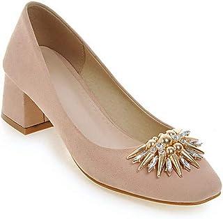 BalaMasa Womens APL12092 Pu Block Heels