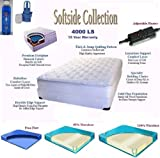 Queen Softside Pillow Top Complete Waterbed with Mattress, Foundation, Frame, Heating System, Conditioner & Electric Pump