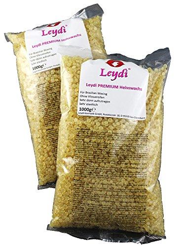 Leydi PREMIUM Heisswax Honig 3Kg, Brazilian Waxing, Profi Produkt zur Haarentfernung mit Heisswachs