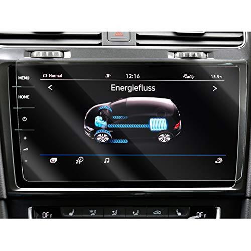 SHAOHAO Protector de pantalla para coche de navegación para Volkswagen Golf 7 Mk7 GTI GTE GTD GPS, transparente, resistente a los arañazos 9H antihuellas