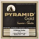Pyramid Gold Flatwound Medium Electric Guitar Strings 11-48