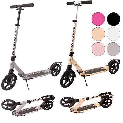 iScoot Ultimate X50 Space Grey Adult City Push Kick Scooter with Large 200MM...