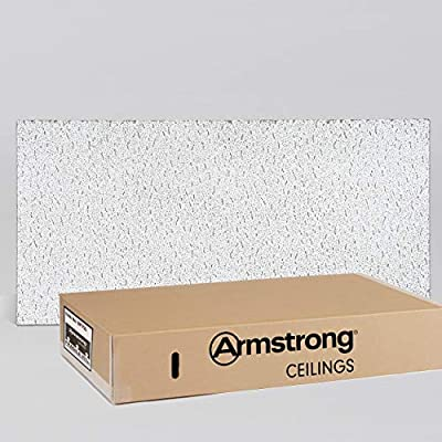 Armstrong Ceiling Tile; 2x4 Ceiling Tiles - Acoustic Ceilings for Suspended Ceiling Grid; Quality Drop Ceilings Direct from the Manufacturer;FISSURED Item755- 12 pcs Lay-in