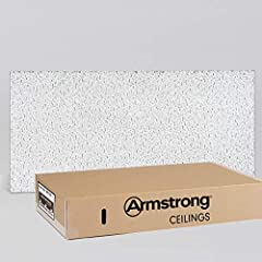 REDUCE INSTALLATION TIME. Fissured lay in ceiling tiles with a directional texture and a square edge cut easily and minimize waste and time during installation; 2x4 ceiling tiles; 1-year warranty; free shipping MINIMIZE NOISE AND HELP BLOCK SOUND BET...