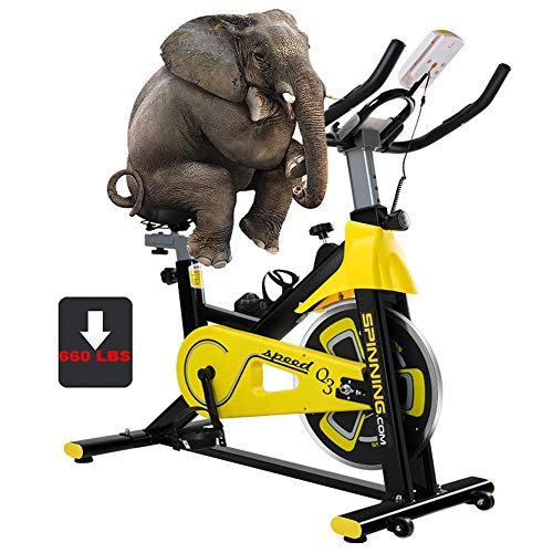 Learn More About NYANGLI Exercise Cycling Bike,Indoor Stationary Fitness Bikes,Gym Treadmill Equipment with Shock Absorbing Cushion,Stepper of Maximum Load 660Lbs with Led Display for Home,Office,Yellow