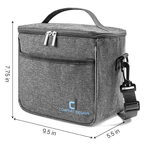 Small Compact Thermal Insulated Lunch Box for Adult Men, Women & Children, Reusable, Cooler Tote Bag | Cool & Warm Food Storage for 6 Hours, | Leak-proof, Easy to Clean, Ideal for Work, School, Travel