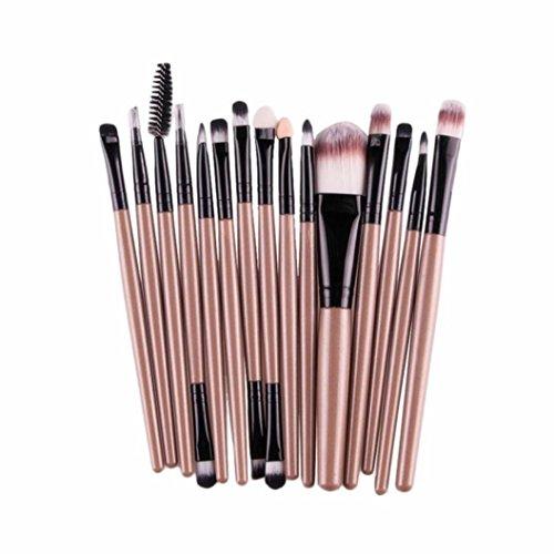 Fasloyu brosses 15 pcs/Ensembles de fard à paupières Fondation sourcil lèvre Brosse Pinceaux de maquillage Outil