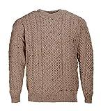 Pull 100% laine d'Aran, couleur grège - beige - S