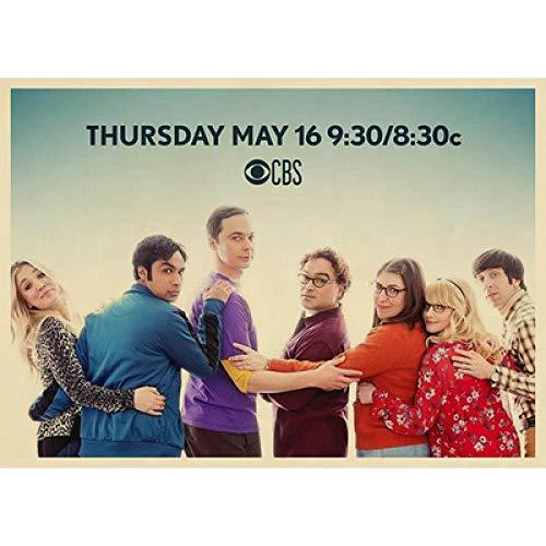 Decoración De Arte The Big Bang Theory 300/500/1000/1500 Piezas Rompecabezas para Adultos Niños Edad 8 Años Regalo De Juguete para Niños Niña Niño Hombre Mujer(Size:500pc)