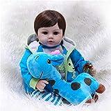 Alian Renacimiento Baby Doll Silicona Paño Suave Cuerpo Niña pequeña Acompañado de Regalos Familiares 55cm