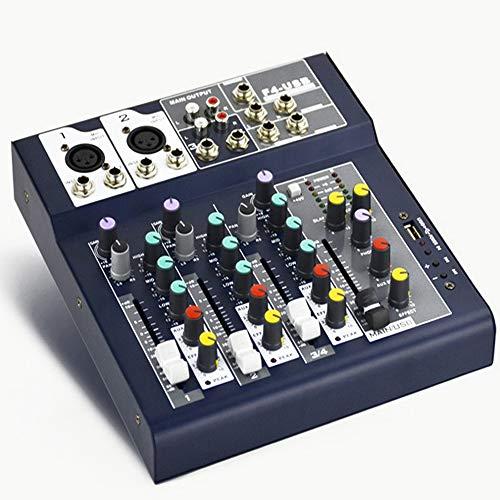 NOBLJX Mezclador estéreo Equipo Compacto de sintonización de DJ. Mesa de Mezclas...