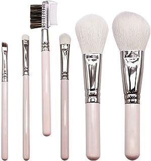 LYRSRX 化粧ブラシ、6ピュアウールメイクブラシ動物のヘア高級美容ツールアイシャドウブラシパウダーブラシ
