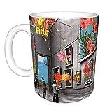 Hdadwy Nature 'S Embrace Home Taza de té de cerámica para oficina Taza de café de oficina 10 oz
