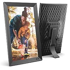 NIX 15,6 inch Digitaal Beeldlijstje. FHD-foto's in dezelfde diavoorstelling, IPS-display, automatische beeldrotatie, energiebesparende bewegingssensor, wandbevestiging, klok/kalenderfunctie, afstandsbediening*