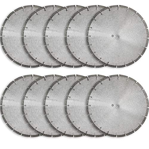 14' Sintered 10mm Wet/Dry General Purpose Concrete Diamond Saw Blade (10 Pack)