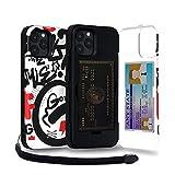 TORU CX PRO iPhone 12/12 Pro ケース パターン カード 収納背面 3枚 カード入れ カバ― (ストラップ, ミラー 含ま) - アイフォン12 Pro 用 / アイフォン12 用 - 落書き
