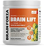 Brain Forza Brain Lift - Herbal Nootropic Brain Booster Supplement for Focus, Concentration & Memory - L-Theanine, TeaCrine, Rhodiola Rosea, Ginseng, Catuaba, Ashwagandha, 30 Serving (Strawberry)
