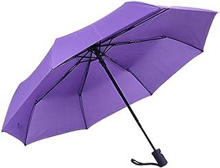 JOYS CLOTHING ビジネス三つ折り自動傘折りたたみ日焼け止め防雨傘カスタムメイド自動傘 (Color : Purple)