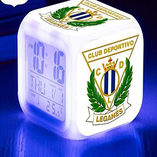 shiyueNB Juguetes Real Club Deportivo de La Coruña 7 Colores Flash Reloj Digital LED Reloj Despertador La Liga Relojes de fútbol Los Mejores