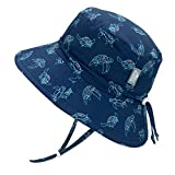 JAN & JUL Baby Sun-Hat for Newborn with UV Protection, 50 UPF Quick-Dry (S: 0-6 Months, Turtle)