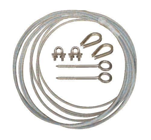 JD HK163 Cable Support Kit with 100' Cable with Clamps  Hardwa