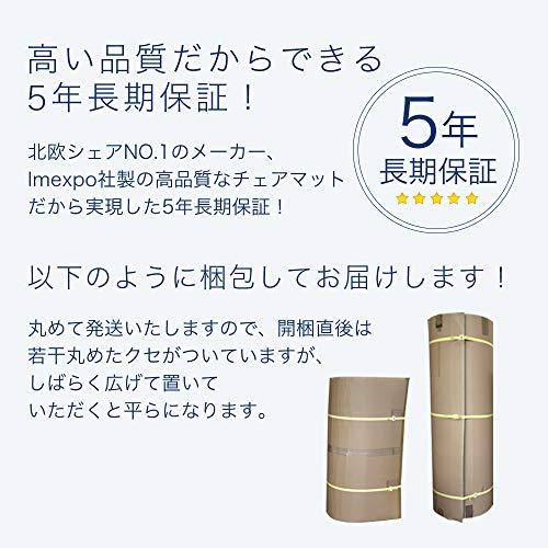 スーパーチェアマット/ポリカーボネートイメクスポ社製/Lサイズ1200×1500mm(704)