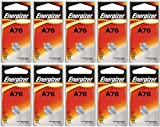 Strip of 10 Energizer A76 (LR44) 1.5v Alkaline Batteries