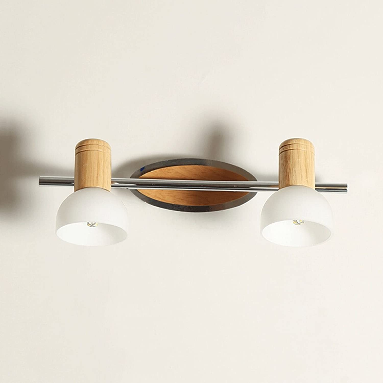 FUFU Massivholz-Wand-Lampe, feste hlzerne Spiegel-vordere Lichter, wasserdichtes Holz (gre   4w37cm)