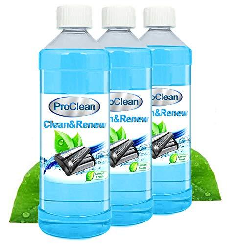 Ideal Pro Clean Scherkopfreiniger 3 x 1000ml Nachfüllflüssigkeit für Reinigungskartuschen. Braun CCR Kartuschen + gängige Kartuschen