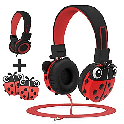 KidMoments Kids Headphones with 85dB Volume Limited Hearing Protection,Made of Food Grade Material,BPA-Free,Tangle-Free Cord, Wired On-Ear Headphones for Children,Toddler,Baby from shenzhenshi xinchangtu technology co,.ltd