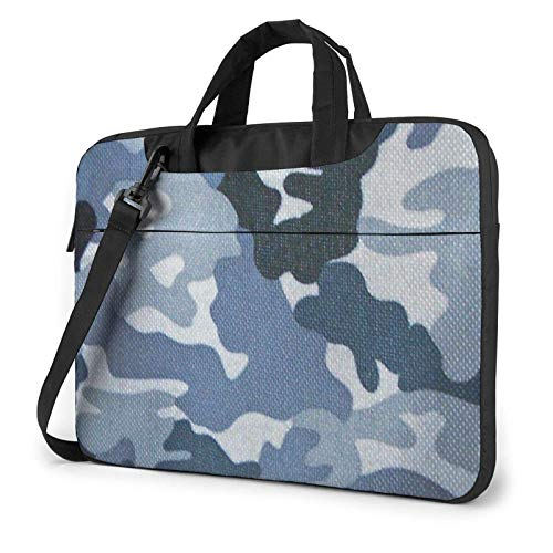 XCNGG Bolso de hombro Computer Bag Laptop Bag Carrying Laptop Case, Camouflage Green Computer Sleeve Cover with Handle, Business Briefcase Protective Bag for Ultrabook, MacBook, Sony, Notebook 14 inc