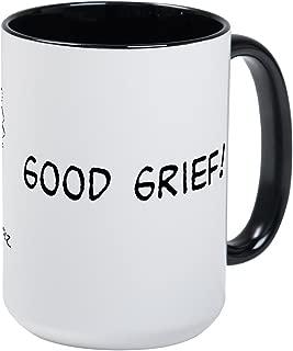 CafePress Good Grief Large Mug Coffee Mug, Large 15 oz. White Coffee Cup