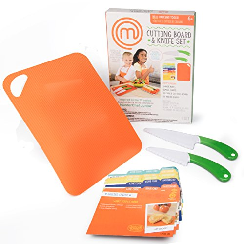 MasterChef Junior Knife and Cutting Board Set With Recipes
