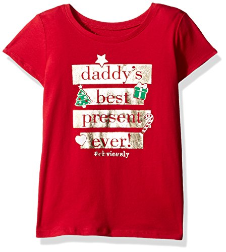 The Children's Place Girls' Short Sleeve Fashion Graphic Tees, Ruby 92751, 12-18MOS