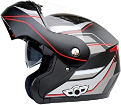 KUI Cascos De Motocross Bluetooth Integrado Casco De Motocicleta Modular Flip Up Doble Visera Casco Intercomunicador para Hombres/Mujeres,Blackgray-XL(61-62cm)